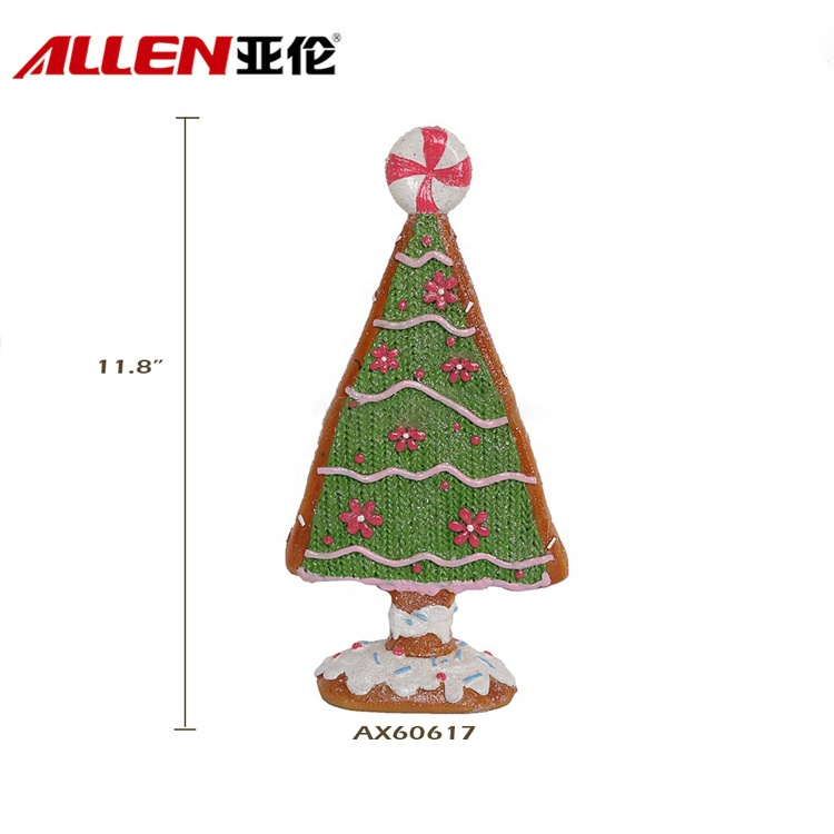 Indoor Crafts Resin Tabletop Christmas Tree For Decoration
