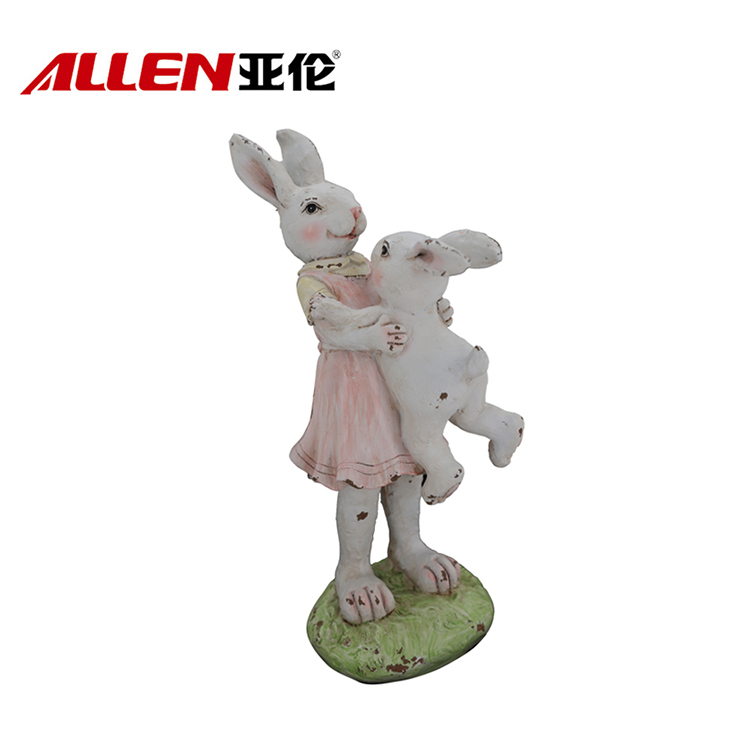 Easter Polyresin Bunny Mum Bunny Baby Decoration