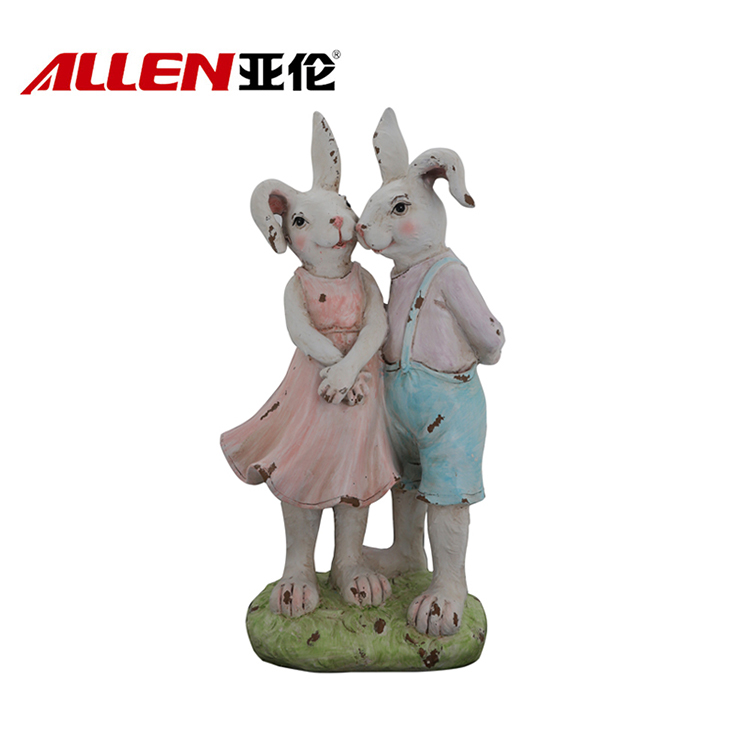 Easter Holiday Decoration Polyresin Bunny Decor