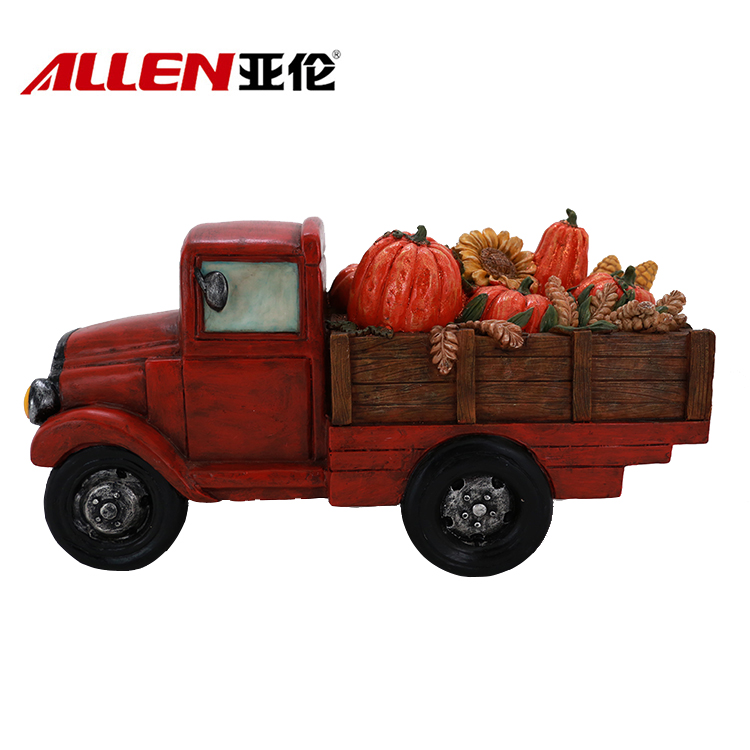 Thanksgiving Home Decor Fall Season Truck With Fruits