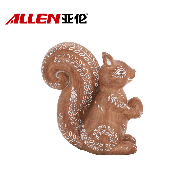 Polyresin Thanksgiving Squirrel Sculpture Home Decor