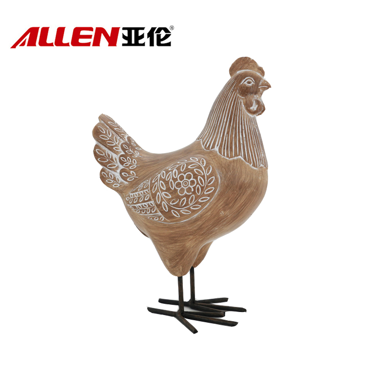 Life Size Resin Chicken Sculpture