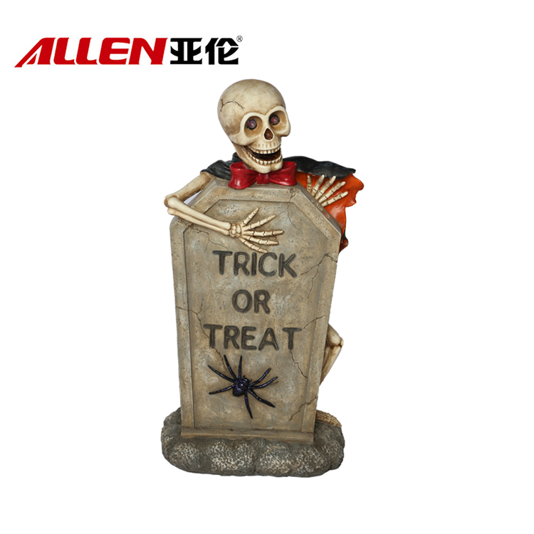 Halloween Decoration 36inch Height Skull Tombstone