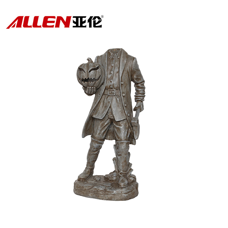Halloween Resin Headless Soldier dengan cahaya