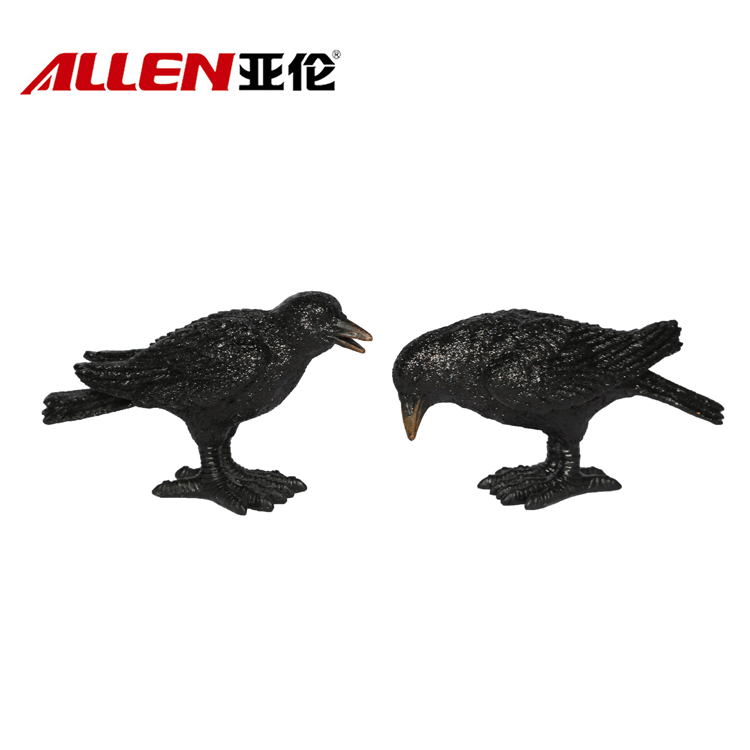 Halloween Decoration Polyresin Crow Figurine