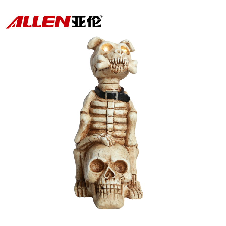 Halloween Home Decoration Dog Skull With Solar
