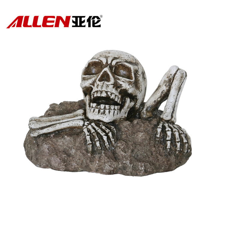 Halloween Decor Come Out Ziemia Life-Size Skull Rzeźba