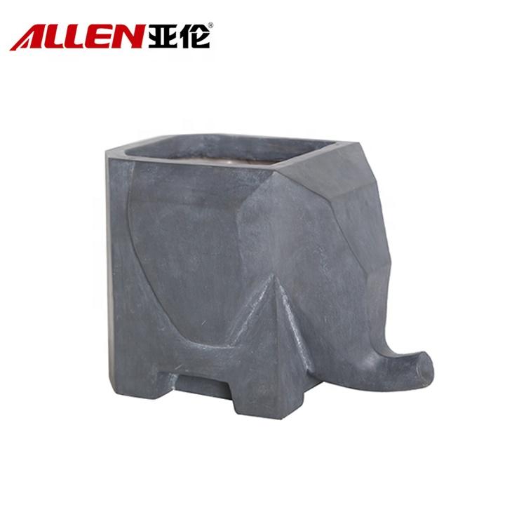 resin animal flower pot