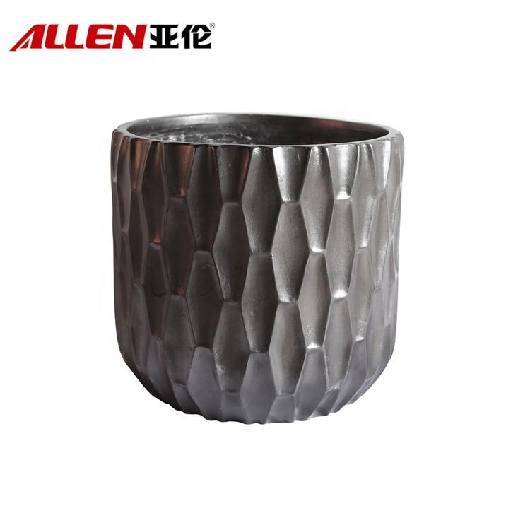 Round Shape Modern Style Planter Garden Flower Pots For Decor