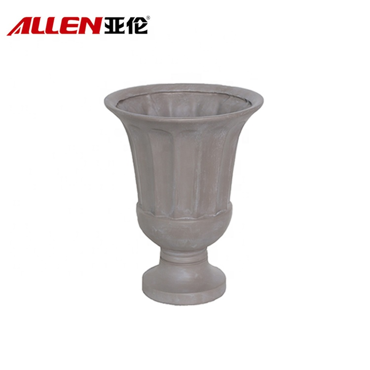 Polyresin Urn Planter Flower Pots For Outdoor Garden