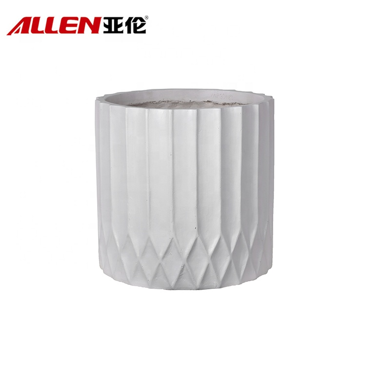 Line Pattern Finishing Modern Elegant Flower Pots