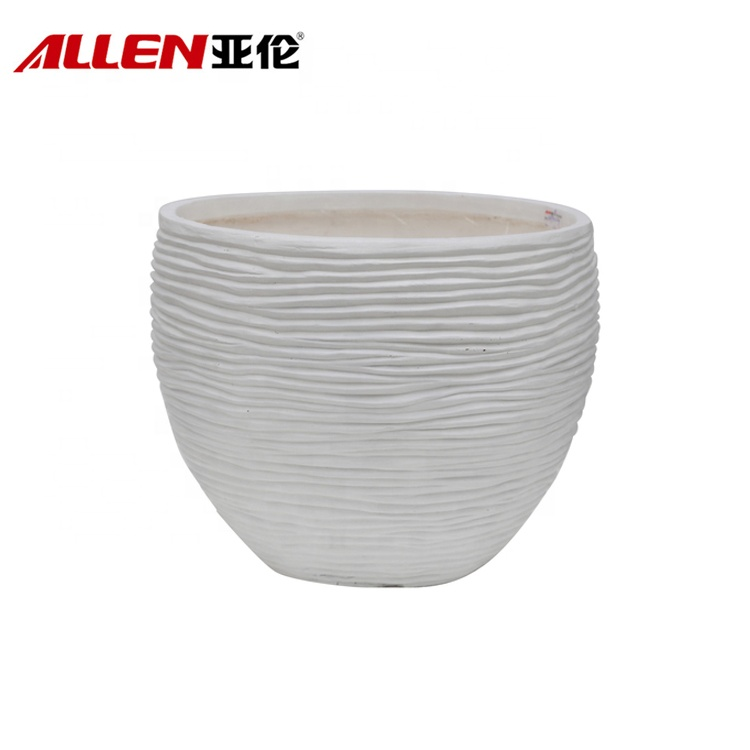 Fiberglass Outdoor Decoration Round Garden Planter