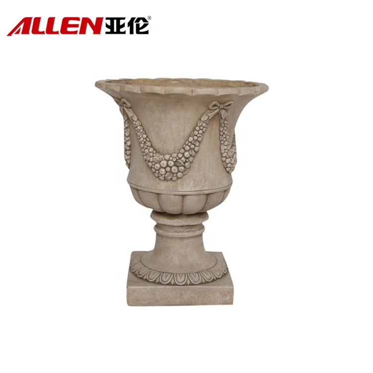 Fruit Pattern Outdoor Garden Decoration Urn Flower Pot