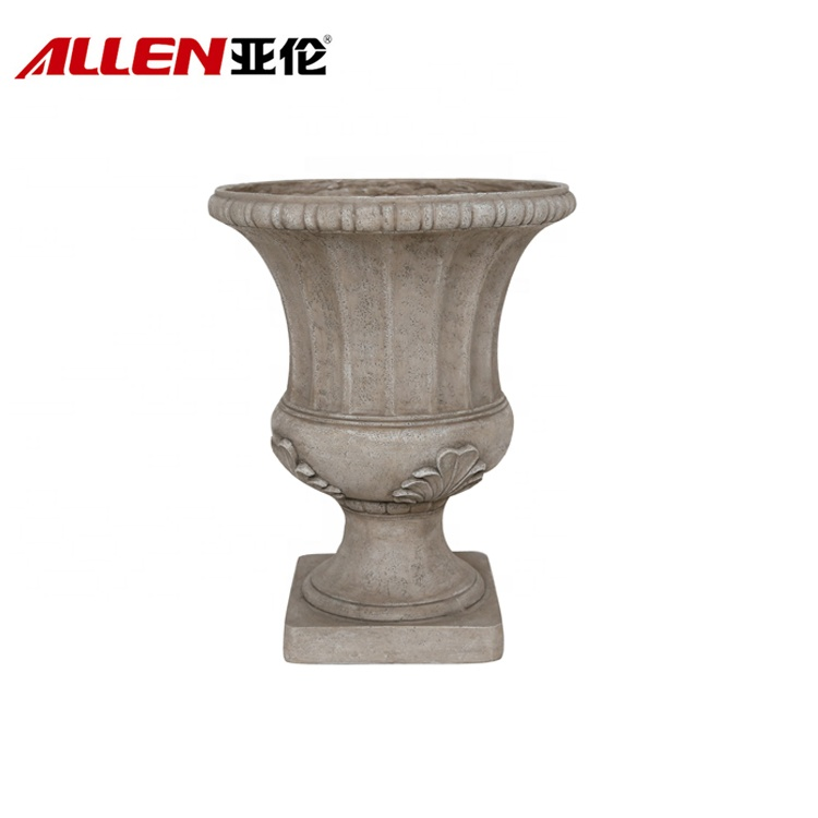 Traditional Leaf Pattern MGO Urn Planter