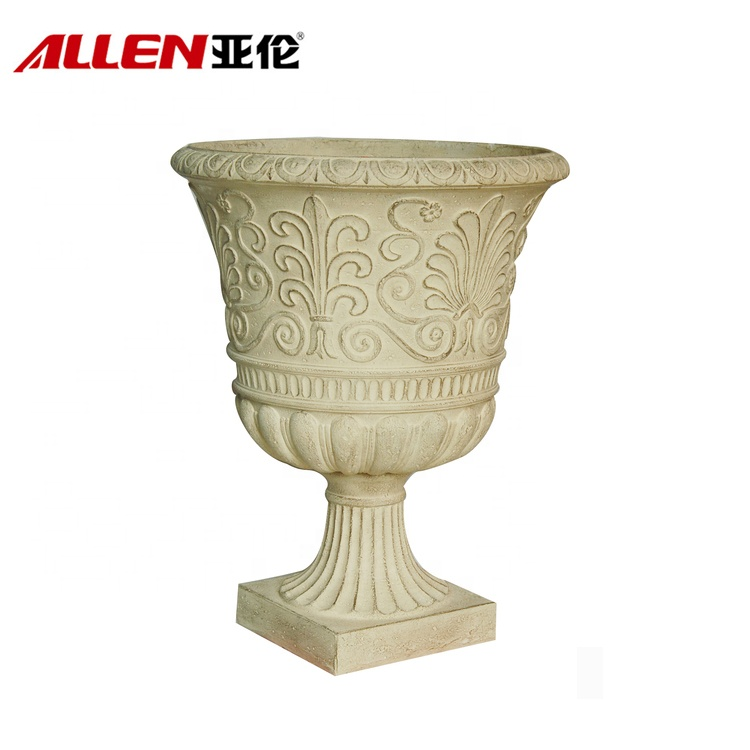 Fiberglass Urn Planter Flower Pots For Decor