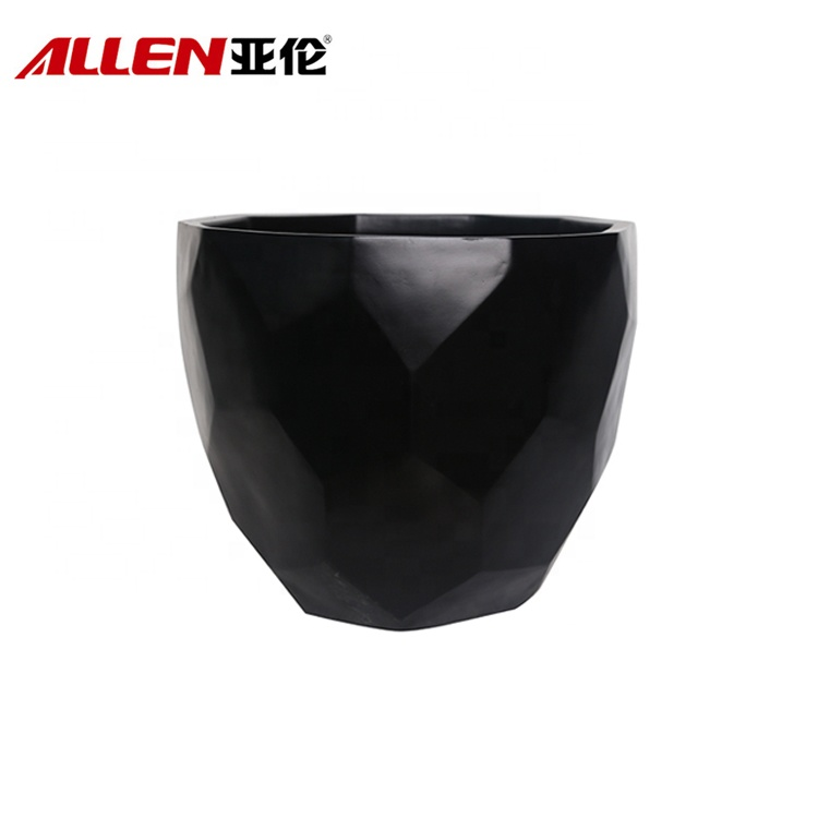 Black Glazed Flower Plant Pots Wholesale