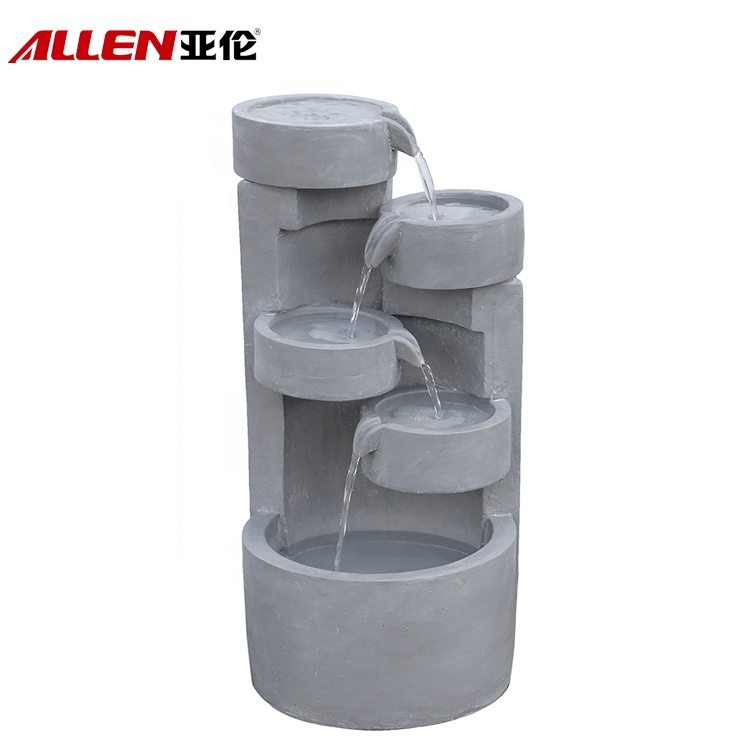 Outdoor Decorative Cement Pot Water Fountain