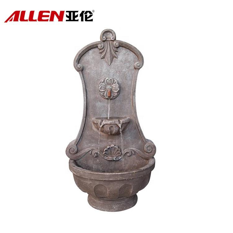 Design Parede tradicional Fiberglass Outdoor Garden Fountain