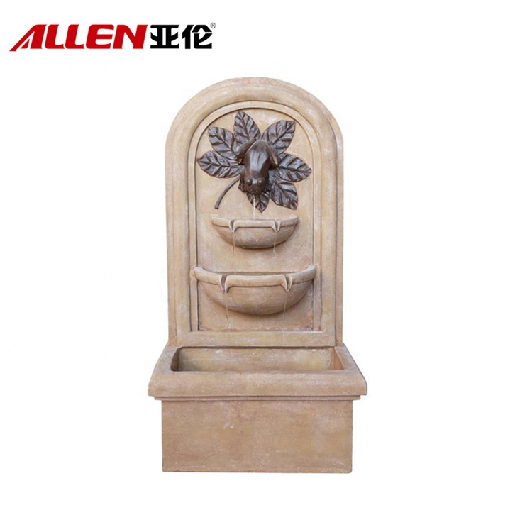 Garden Fiberglass Outdoor Wall Mounted Fountains With Frog