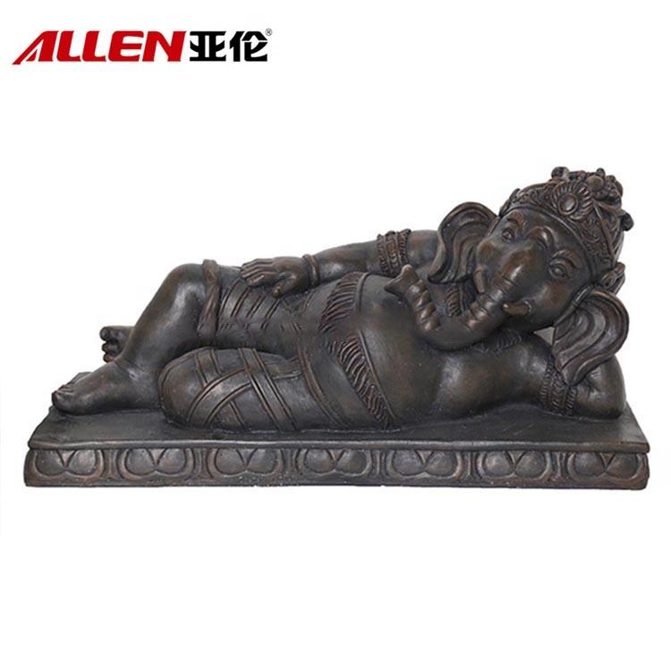 Polyresin Ganesh Elephant Buddha-statyn