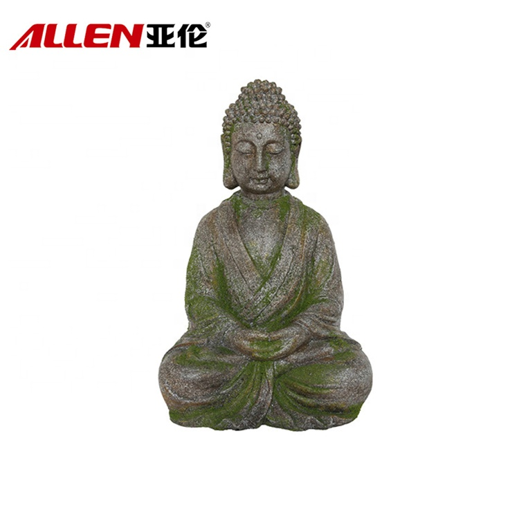 Moss Finish Garden Decor Giant Resin Buddha-statyn