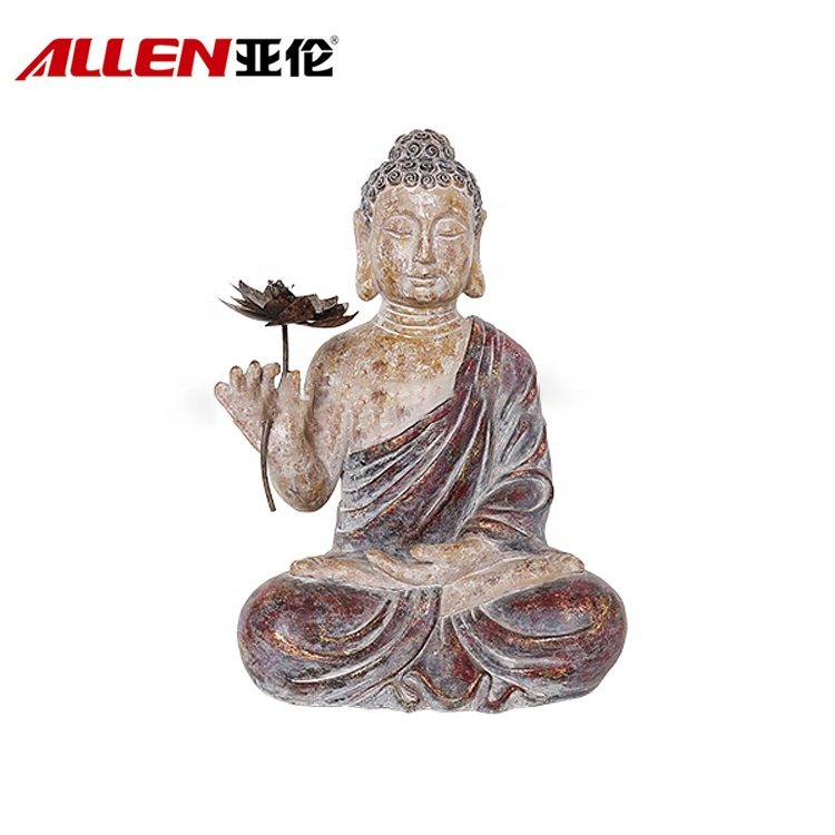 Handmade Religious Crafts Garden Resin Buddha Statues For Decor