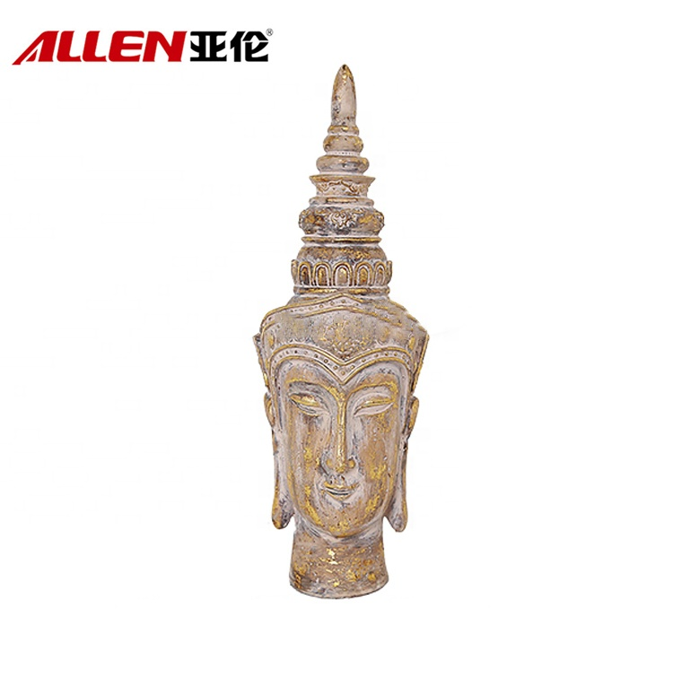 Resin Buddha Head Figurine för dekor