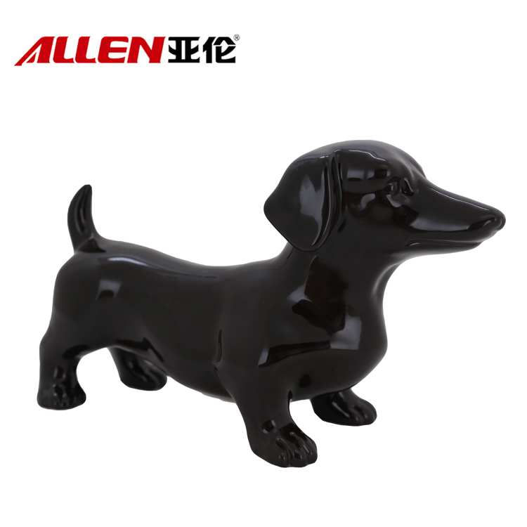Handmade Home Decoration 11.8inch Length Ceramic Dog