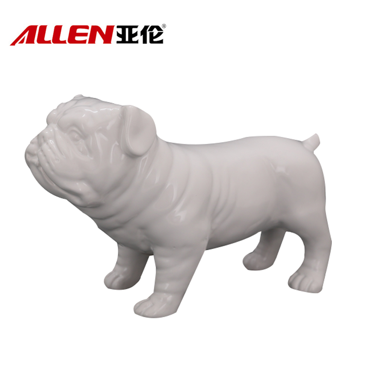 Keramisk Cute Dog 10.3inch lengde for Home Decoration