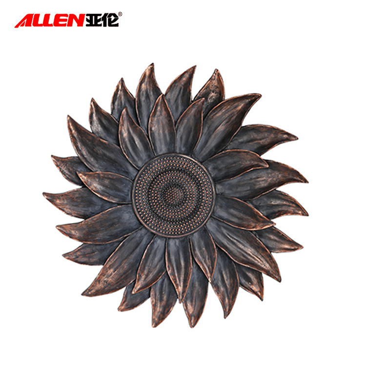 Home Decor Resin Wall Hanging Sunflower Sculpture