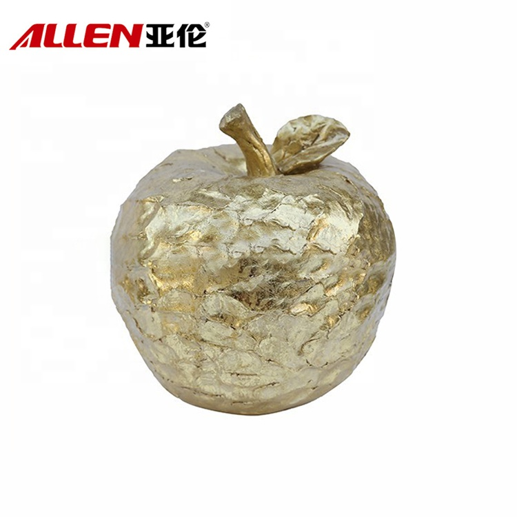 Elegant Party Decoration Golden Apple Sculpture