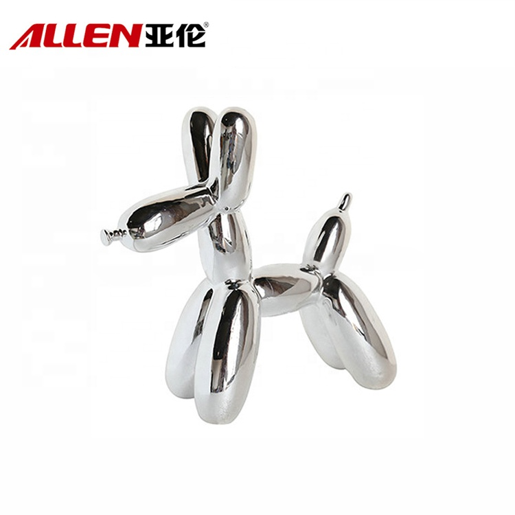 Sliver Plating Resin Crafts Decor Balloon Dog Sculpture