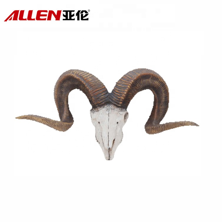 Faux Goat Head Resin Animal Head Wall Decoration
