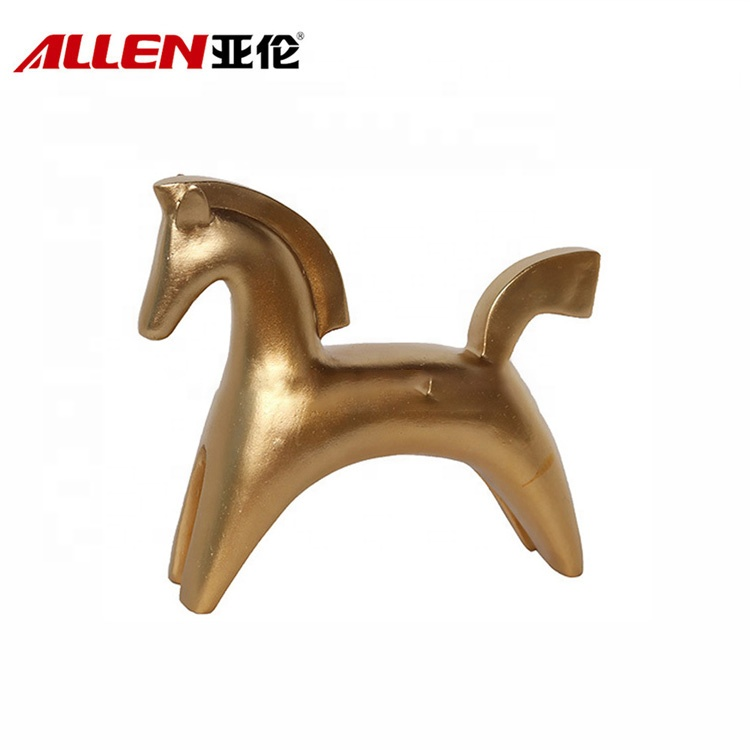 Home Table Top Decoration Small Resin Gold Horse Statue