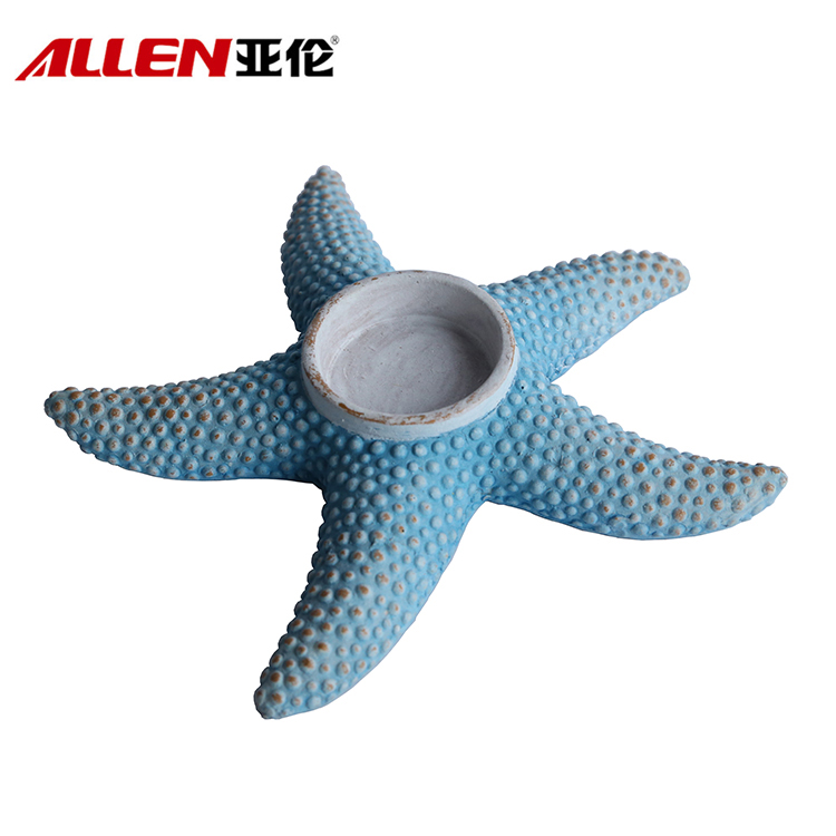 Polyresin Home Decoration Starfish Candle Holder