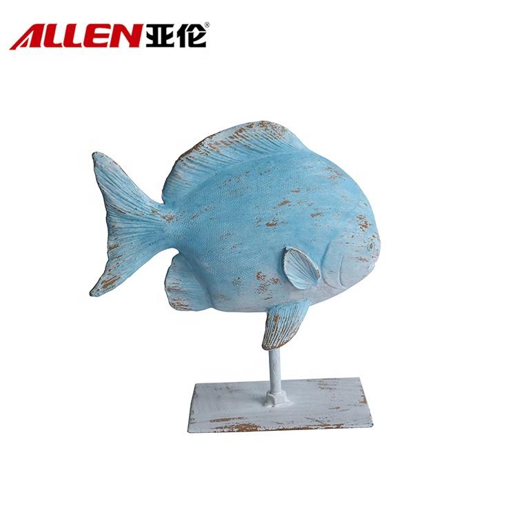 hiasan patung ikan resin