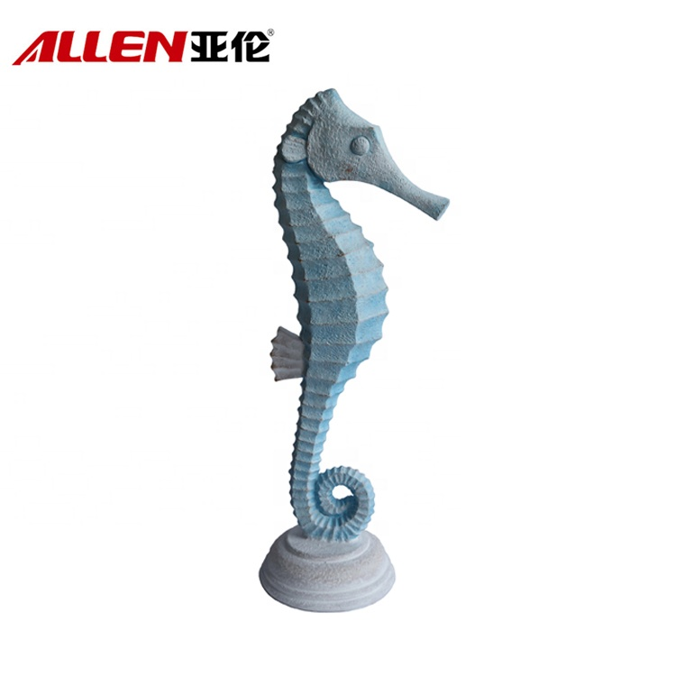 Resin Coastal Style Home Decoration Seahorse Statue