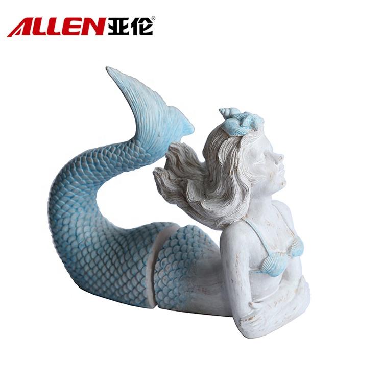 Kína gyanta sellő figura
