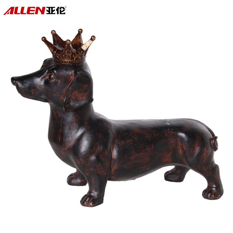 Lovely Home Decoration Resin Dog Sculpture