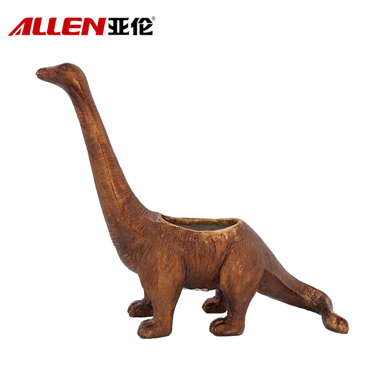 Creative Style 12.6inch Length Resin Dinosaur Planter Pot