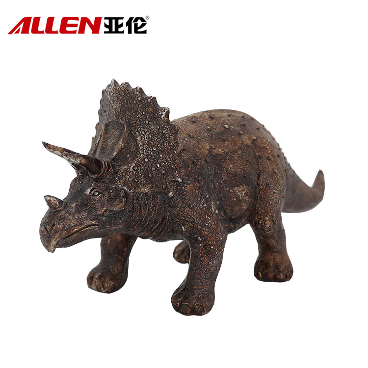 Indoor Home Decoration 12inch Length Polyresin Triceratops