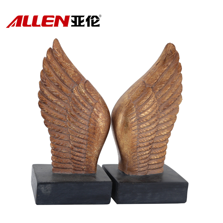 Angel Theme Europe Style Wing Bookend Resin Bookend