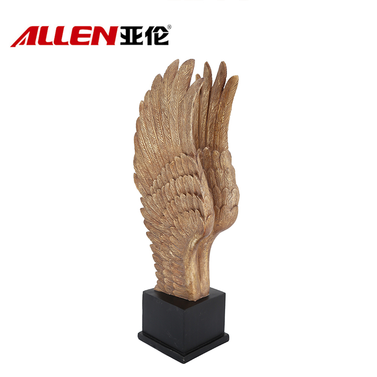 Europe Design Resin Angel Wings On Base For Home Decor