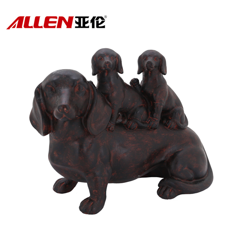 Resin Life Size Dog Beelden voor Home Decoration
