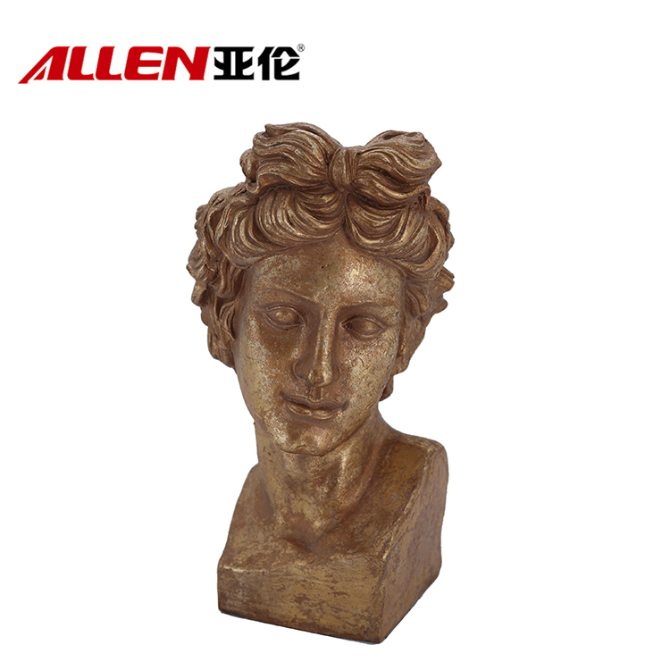 Resin hiasan rumah David Bust Sculpture