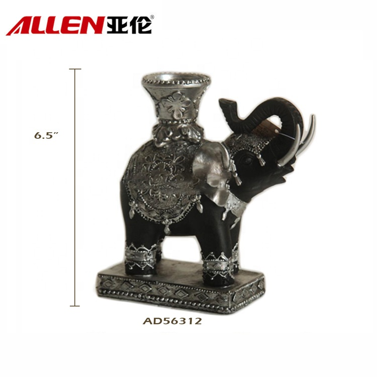 OEM Polyresin Antique Elephant Candle Holder For Home Decor