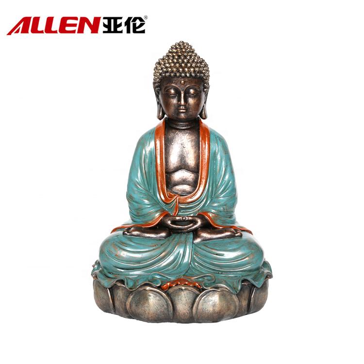 Handmade Polyresin Estátua de Buda Para a decoração Home