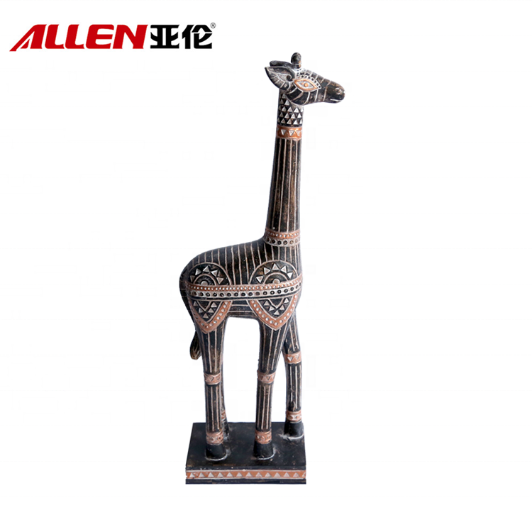 African Animal Sculpture Resin Giraffe Statue