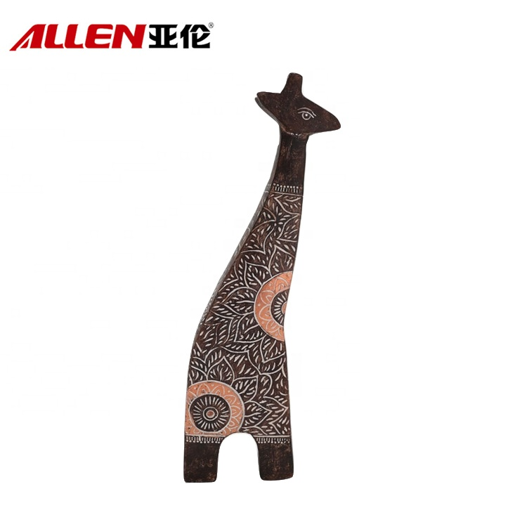 OEM Resin Giraffe Sculpture With African Pattern