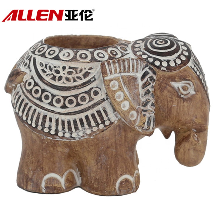 Resin Elephant Kerzenhalter